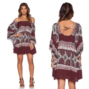 Free People Hearts of Gold Babydoll Dress Scarlet
